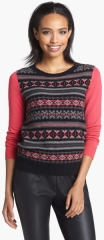 Halogen Fair Isle Cashmere Sweater in red at Nordstrom