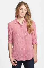 Halogen Front Button Blouse in pink at Nordstrom