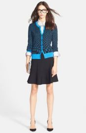Halogen Three Quarter Sleeve Cardigan at Nordstrom