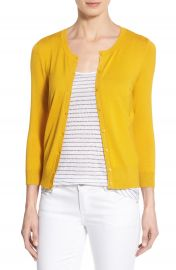 Halogen cardigan in yellow at Nordstrom