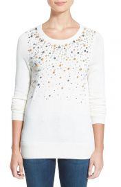 Halogen embellished sweater at Nordstrom