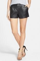 Halogen leather shorts at Nordstrom