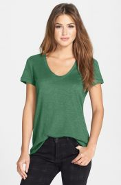 Halogenand174 Relaxed Slub Knit Tee in green at Nordstrom