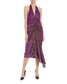 Halpern Ruched Degrade Sequin Dress at Neiman Marcus