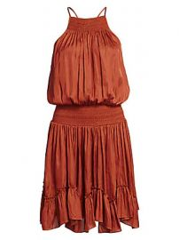 Halston - Gathered Smocked Dress at Saks Fifth Avenue