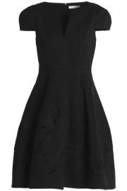 Halston Cotton and Silk Blend Dress at The Outnet