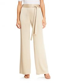Halston Flowy Satin Pants at Neiman Marcus
