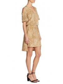 Halston Heritage - Cold-Shoulder Wrap Midi Dress at Saks Fifth Avenue