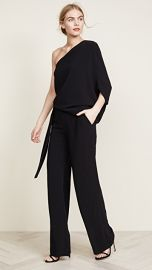 Halston Heritage Asymmetrical Wide Leg Jumpsuit at Shopbop