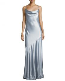 Halston Heritage Bias-Cut Satin Evening Gown   Neiman Marcus at Neiman Marcus
