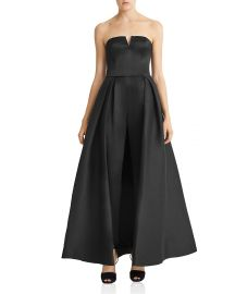 Halston Heritage Faille Full Skirted Jumpsuit at Bloomingdales