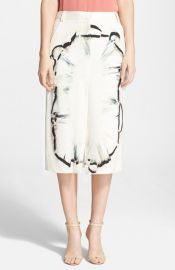 Halston Heritage Silk Midi Skirt at Nordstrom
