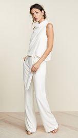 Halston Heritage Sleeveless Drape Jumpsuit at Shopbop