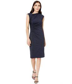 Halston draped neck dress at Zappos