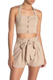 Halter Front Button Top at Nordstrom Rack