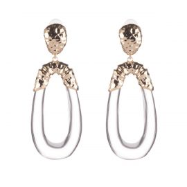 Hammered Bamboo Dangling Clip Earring by Alexis Bittar at Alexis Bittar