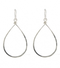 Hammered Hoop Earrings at Peggy Li