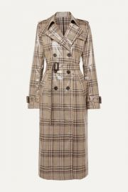 Handsome Checked Vinyl Trench Coat by Munthe at Net A Porter