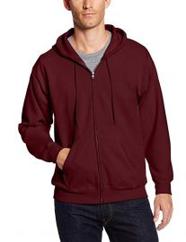 Hanes Mens Full Zip Hoodie at Amazon