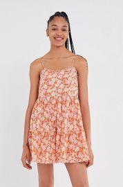 Hanna Scallop Babydoll Mini Dress at Urban Outfitters