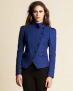 Hanna's blue coat from Bebe at Bebe