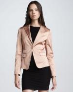Hannas blush pink blazer at Neiman Marcus at Bergdorf Goodman