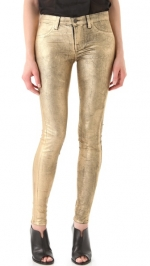 Hanna's gold jeans by J Brand at Shopbop