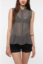 Hanna's grey studded shirt at Urban Outfitters