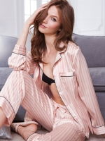 Hanna's pink striped pj pants at Victorias Secret