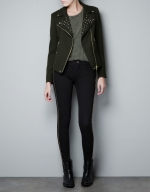 Hanna's studded collar jacket at Zara