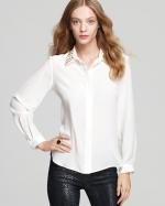 Hanna's white studded shirt at Bloomingdales at Bloomingdales