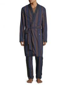 Hanro Striped Woven Robe   Neiman Marcus at Neiman Marcus