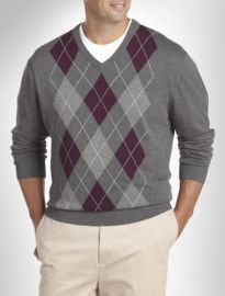 Harbor Bay Argyle Sweater at Destination XL