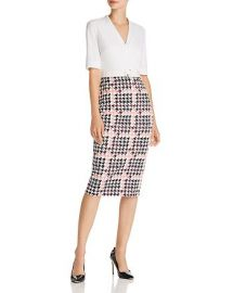 Harlla Houndstooth Combo Bodycon Dres by Ted Baker at Bloomingdales