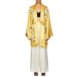 Harmony Floral Silk Long Kimono by Alice Archery at Barneys