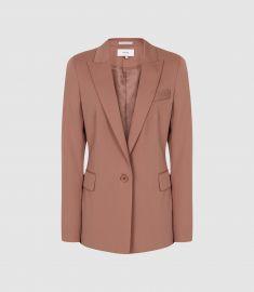 Harper Jacket in Dusky Pink at Reiss