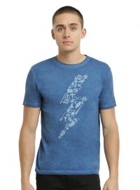 Harry Potter Symbols Lightning Oil Wash T-shirt at Hot Topic