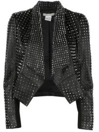 Harvey studded draped jacket at Farfetch
