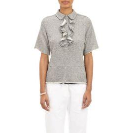 Harvey Faircloth Ruffle-Front Sweatshirt Top at Barneys