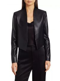 Harvey Open Leather Jacket by Alice  Olivia at Saks Fifth Avenue