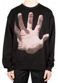 Haston Hand Print Cotton Sweatshirt by Dries van Noten at Browns