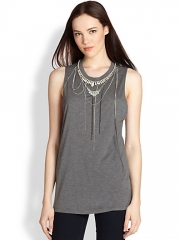 Haute Hippie - Embellished Muscle Tank at Saks Fifth Avenue