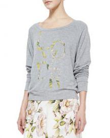 Haute Hippie Lover-Print Jersey Sweatshirt at Neiman Marcus