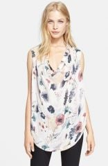 Haute Hippie Meadow Floral Print Silk Blouse at Nordstrom