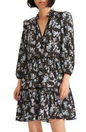Hawken Floral Tiered Stretch Silk Dress at Nordstrom
