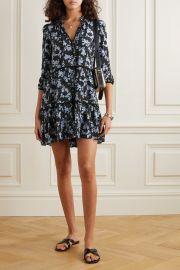 Hawken tiered floral-print silk-blend mini dress at Net a Porter