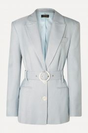 Hawkins belted woven blazer at Net A Porter