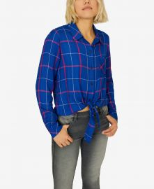 Hayley Plaid Tie-Front Shirt at Macys