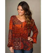 Hayley's Lucky Brand blouse at 6pm