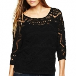 Hayleys black sweater at JCP at JC Penney